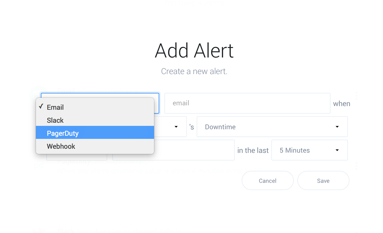 PagerDuty alert action